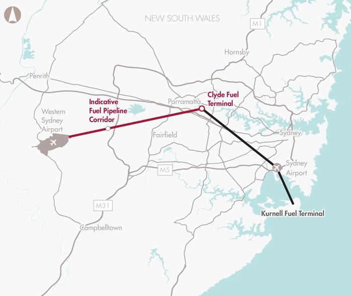 Preserve corridor for Western Sydney Airport fuel pipeline