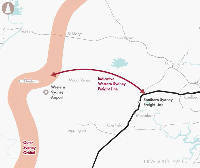 Preserve corridor for Western Sydney Freight Line and Intermodal Terminal access