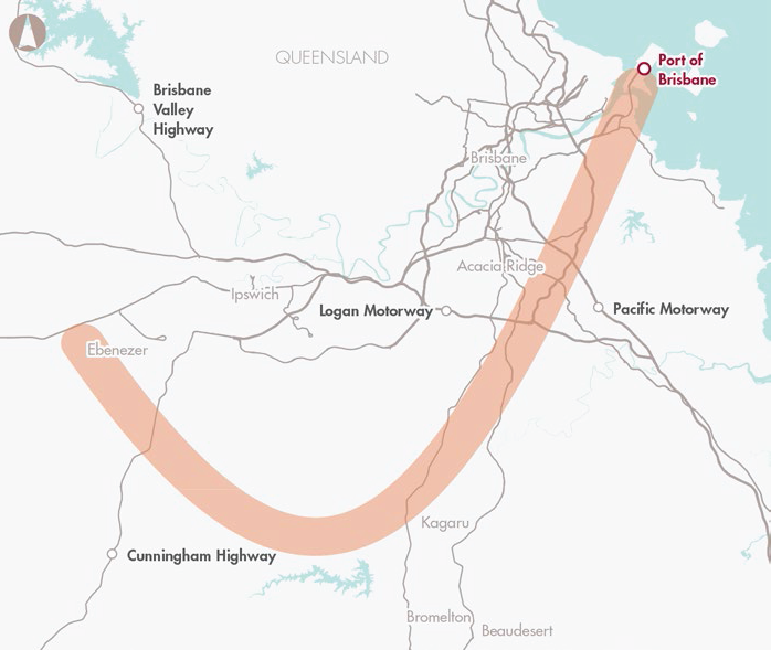 Port of Brisbane dedicated freight rail connection