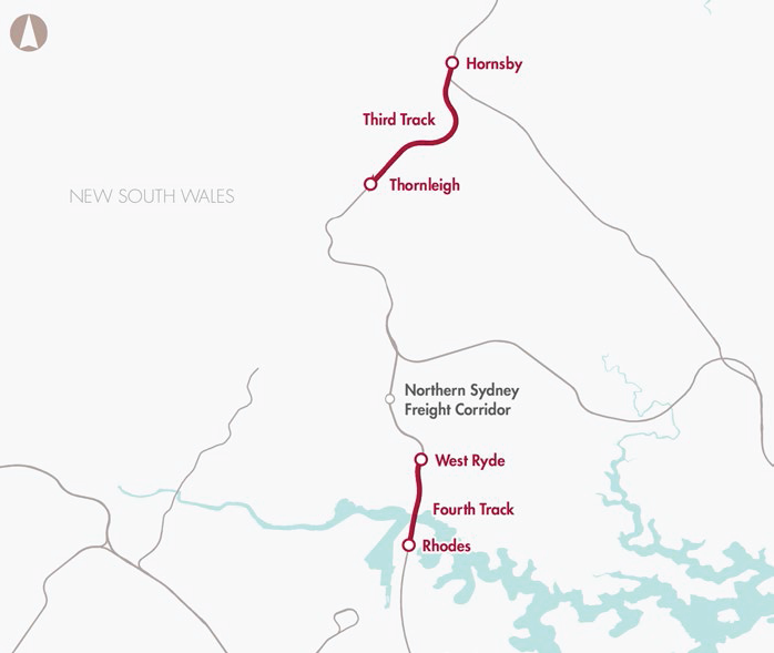 Northern Sydney Freight Corridor Stage 2 (additional track West Ryde to Rhodes and Thornleigh to Hornsby)