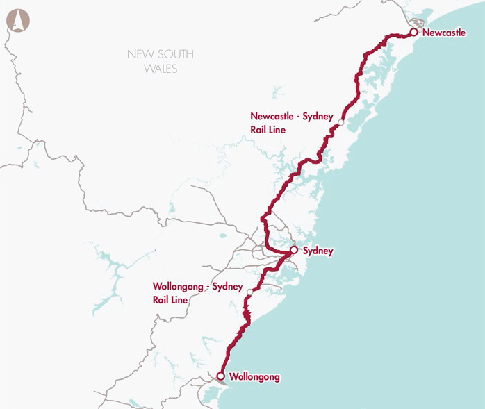Newcastle–Sydney and Wollongong–Sydney rail line upgrades