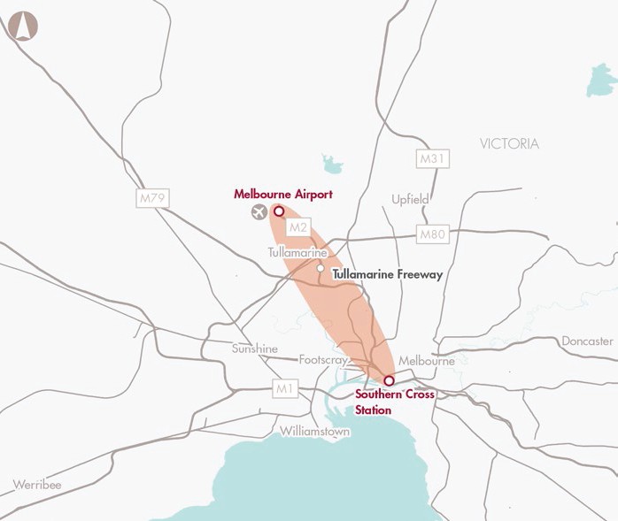 Melbourne Airport to the CBD public transport capacity