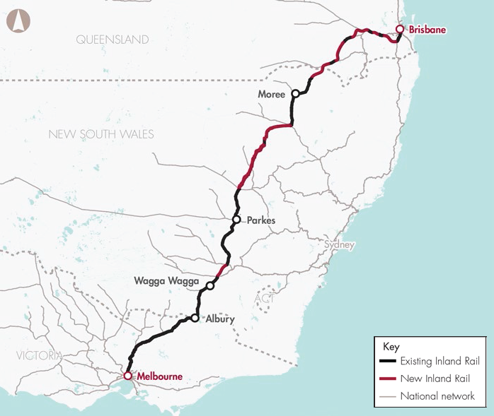 Inland Rail (Melbourne to Brisbane via inland NSW)